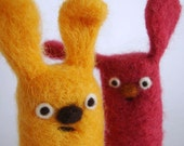 Max and Pete the Floontsy Finger Puppets