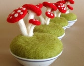 Little Mushrooms Fairy Garden - Three  Mushrooms