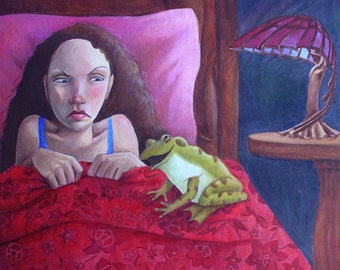 THE FROG PRINCE Limited Edition giclee 17x20 original art print