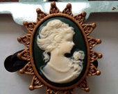 Victorian Cameo Ponytail