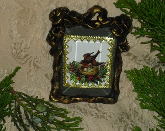 Christmas Bird - Victorian Ornament