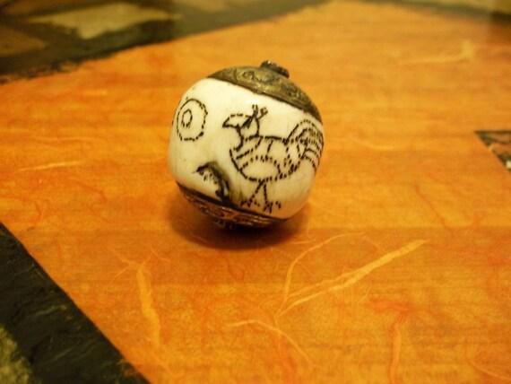 Antique Tibetan Naga Conch Shell Bead