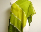 Chartreuse Gorgeous Silk Scarf - Mid Century