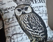 Pillow Cover Crowned Owl