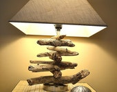 Pacific Coast Driftwood Lamp - Silver