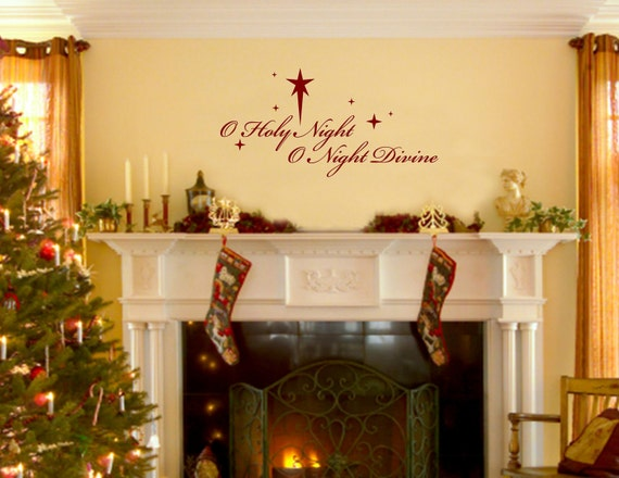christmas decorations wall decals o holy night o night by