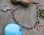TIMES OF PEACE III Tagua Nut and Locket Charm Bracelet