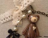 Antique Bear Long Necklace