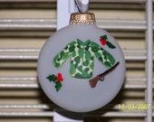 Handpainted Christmas Hunting Ornament