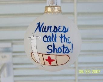 Handpainted Nurse Christmas Ornament