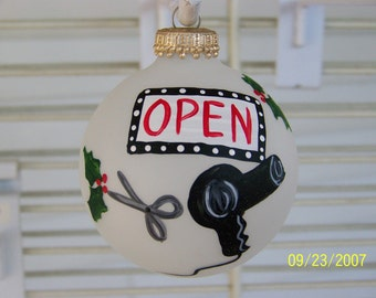 Handpainted Hairdresser Christmas Ornament