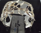 Custom Listing for Michele - Abstract Silver and Bronze Wire Cuff