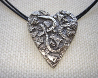 Heart in Fine Silver Mosaic