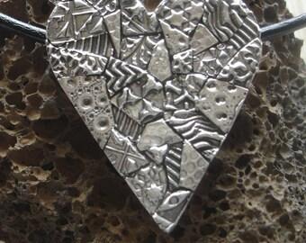 Heart in Fine Silver