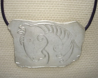 Fine Silver Charger Pendant