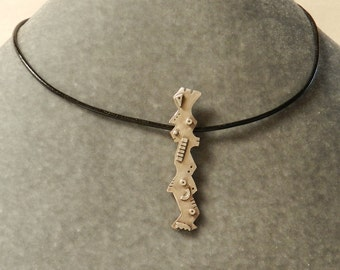 Abstract Stick Figure Pendant