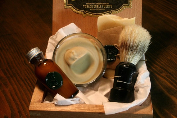 Eco Friendly Shaving Kit with Beer Shaving Soap