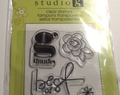 Mini floral Stamp Studio G clear stamp Best of Friends
