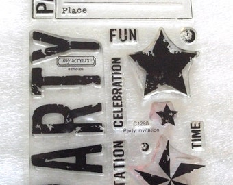 Party Invitations Clear CTMH stamp set