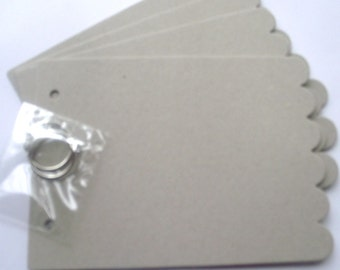 Scalloped Rectangle Chipboard Blank Album with ring