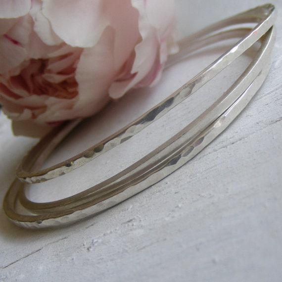 Set of 3 Sterling Silver Bangles