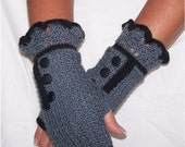 Sharon Mitts Fingerless Glove Crochet Pattern PDF - INSTANT DOWNLOAD.