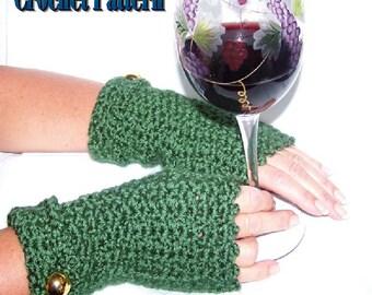 Terry Mitts Fingerless Mitten Crochet Pattern PDF - INSTANT DOWNLOAD.