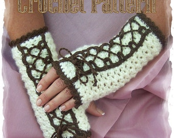 Vickie Mitts Crochet Pattern PDF - INSTANT DOWNLOAD.