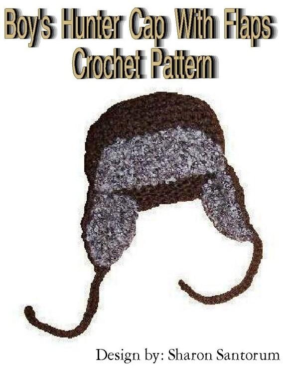 Little Boy S Hunter Cap With Flaps Crochet Pattern Pdf