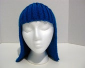 Yarn Wig, Knit Wig Hat Hair, Wig, Halloween Accessory, Hand Knit Handmade Many Colors