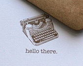 Notecard Stationery Set with Retro Typewriter (12 cards)