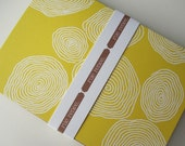Pretty Yellow Spirals stationery notecard set (6 cards)