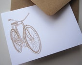 Notecard Set Stationery with Retro Bicycle bike (12 cards)