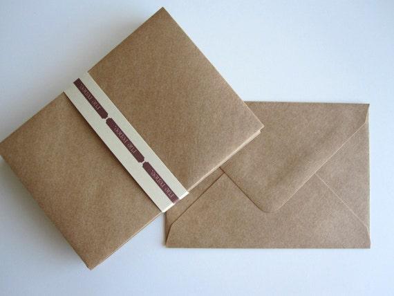 A7 Kraft  Envelopes -- 25 count