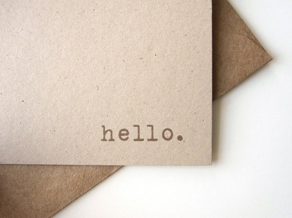 Hello Notecards Stationery set (12 cards)