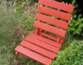 Storable Red Cedar Chair for Home & Garden   handcrafted by Laughing Creek