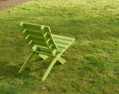 Comfy, Storable Cedar Chair for Home & Garden (color: Green) handcrafted by Laughing Creek