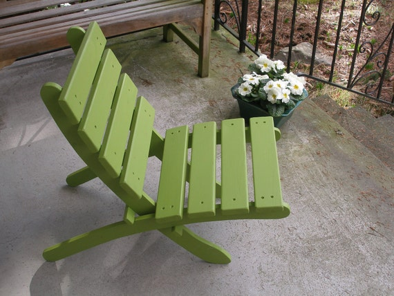 Green Cedar Chair for Home & Garden Enjoyment - Storable - patio furniture handcrafted by Laughing Creek