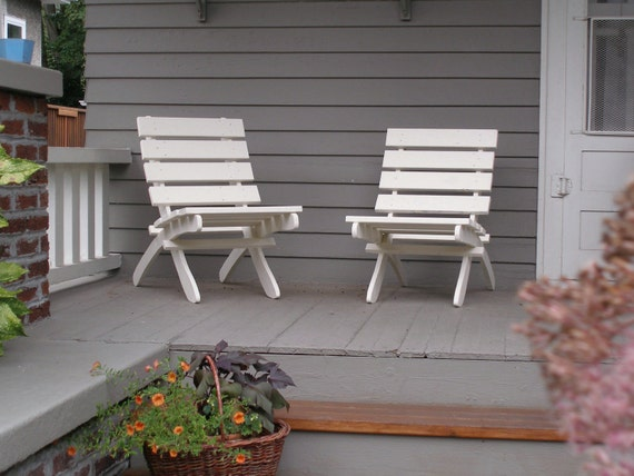 White Cedar Chair for Porch and Patio - storable -  handcrafted by Laughing Creek