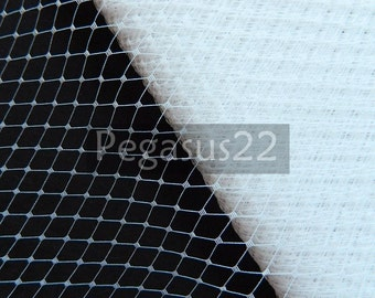 WHITE French Netting (sold by the yard)  Birdcage Veil Material for DIY mourning veiling, hair accessories and burlesque costuming