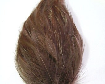 CHOCOLATE BROWN Feather Pad (rooster feather) Applique for millinery hat,mardi gras mask,flapper feather fascinator,children headband