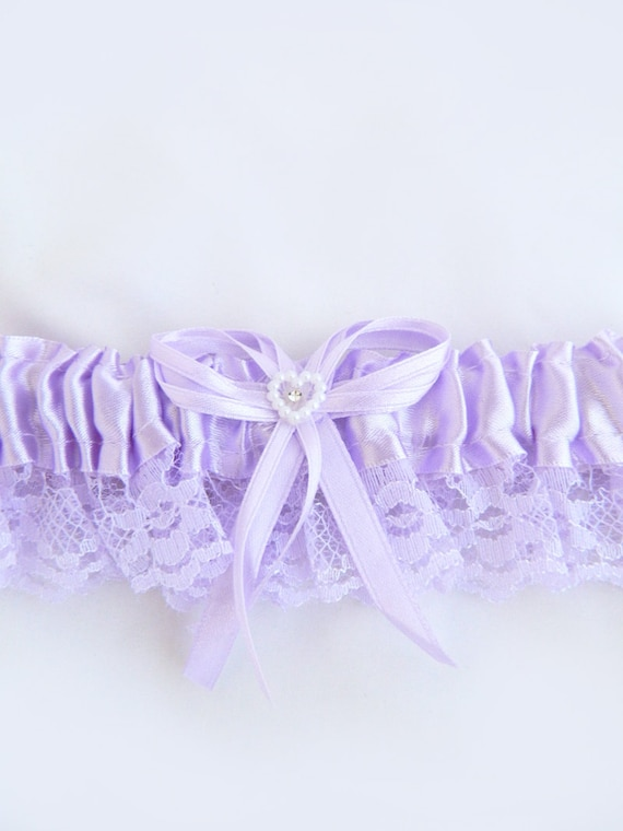 LAVENDER Lace Toss Away Garter with stretchy elastic band. Add your own finishing touches of feathers, flowers and jewelry.