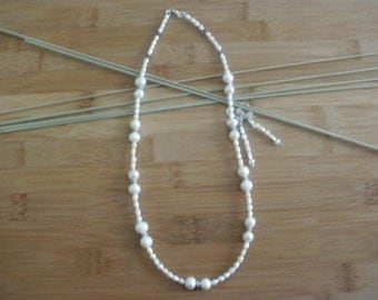 Potato and Freshwater Pearl Necklace and Earrings