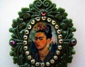 Frida Kahlo sparkling pendant