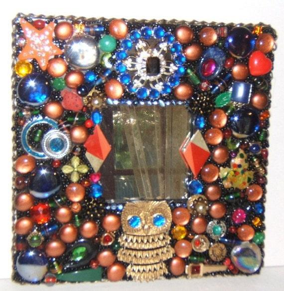 Night Owl Mosaic Mirror