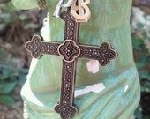 Christian jewelry, Proverbs 16:3- Christian cross necklace-Commit to the Lord whatever you do