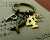 SCRIPTURE KEYRING, Philippians 4:19, But my God shall supply all your need according to his riches in glory by Christ Jesus, Christian Gift
