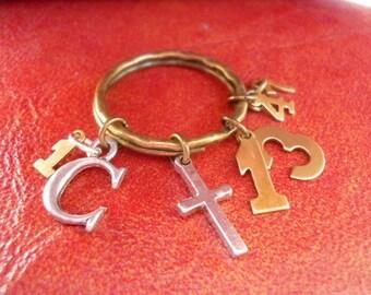 Love Is Patient Keyring-1 Corinthians 13:4-7-Christian keychain