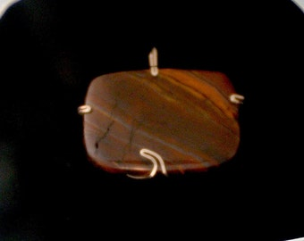 Tigereye Pendant with a Wave