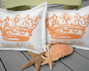 "Queen of Crabs coastal painted 15""X20"""" fishing crabbing gourmet crabby seafood royal queen ocean Crabby Chris Original"
